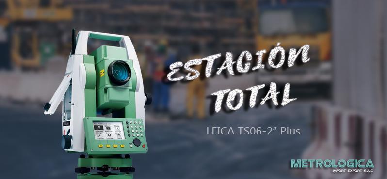 Estación Total Leica TS06 de 2 segundos